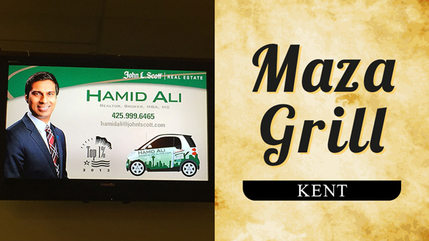 advertise at maza-grill-kent