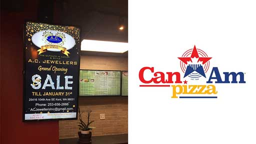 Desi-Adervtise-at-CanAm-pizza in redmond bellevue seattle