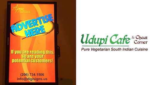 Desi-Advertising-at-Udupi-Cafe--in-Bellevue