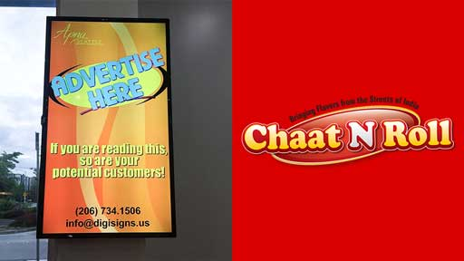 Desi-advertising-at-Chaat-n-Roll-Redmond-Seattle